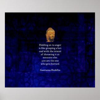 An halten, zum inspirierend Buddha-Zitats zu Poster