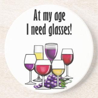 An meinem Alter benötige ich Gläser! Getränkeuntersetzer