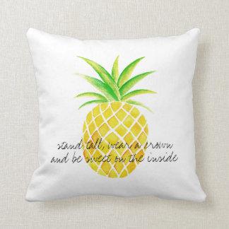 Ananas-Aquarell-Stand-hohe Abnutzung eine Krone Zierkissen