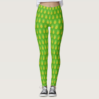 Ananas-Aquarell-tropisches Grün Leggings