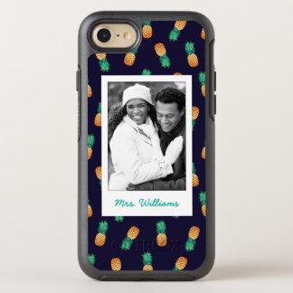 Ananas auf Marine | addieren Ihr Foto u. nennen OtterBox Symmetry iPhone 7 Hülle