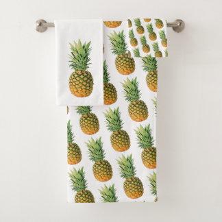 Ananas Badhandtuch Set