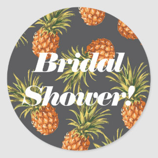 Ananas-Brautparty-Aufkleber Runder Aufkleber