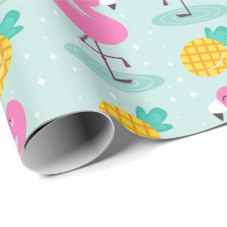 Ananas-Flamingo-Packpapier Geschenkpapier