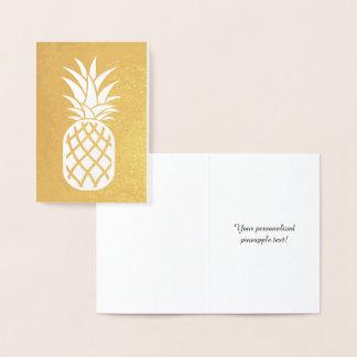 Ananas-Gold Folienkarte