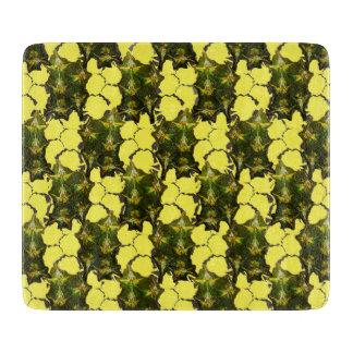 Ananas-Haut + Strukturiertes gelbes Schachbrett Schneidebrett