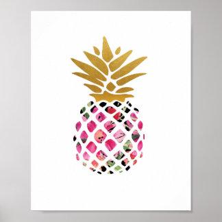 Ananas - Kunst-Druck - Dekor Poster