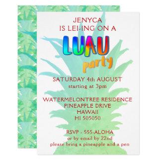 Ananas Luau Party Einladung