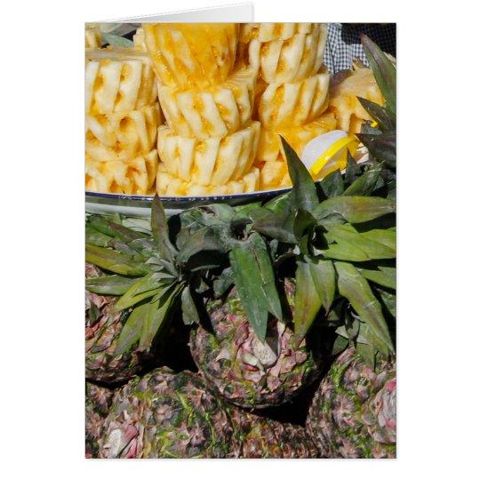 Ananas-Melonen und Scheiben - Bauers-Markt-Frucht Karte