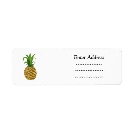 Ananas-Partyadressenaufkleber Kleiner Adressaufkleber