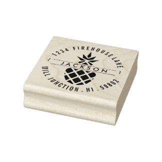 Ananas-Rücksendeadresse-Briefmarke Gummistempel