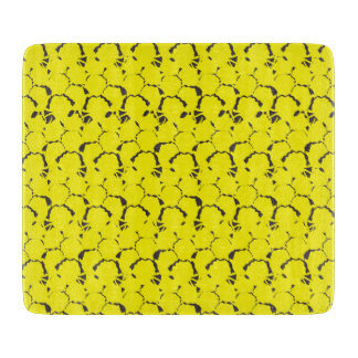 Ananas-strukturiertes Gelb Schneidebrett