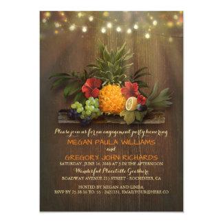 Ananas-tropischer Strand beleuchtet 12,7 X 17,8 Cm Einladungskarte