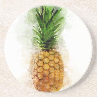 Ananas Wasserfarbe Untersetzer