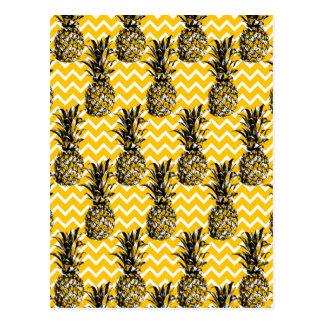 Ananas-Zickzacke Postkarte