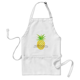 Ananaswatercolor-Stand-hohe Abnutzung eine Schürze