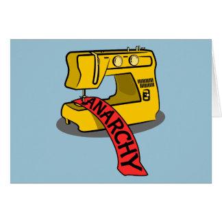 Anarchie-gelbe Nähmaschine Grußkarte
