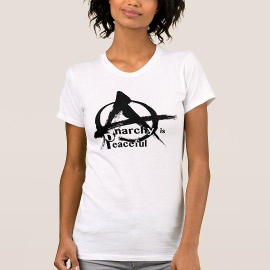 Anarchie ist friedliche ursprüngliche Tintenbürste T-Shirt