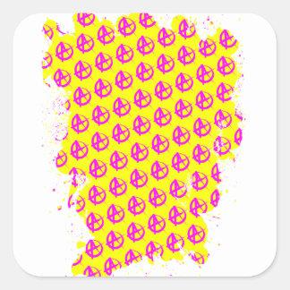 Anarchie-Muster Quadratischer Aufkleber
