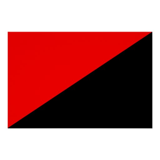 Anarchist, politische Flagge Kolumbiens Plakatdrucke