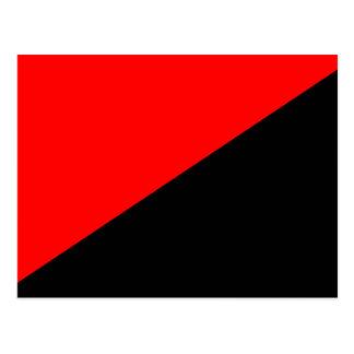 Anarchist, politische Flagge Kolumbiens Postkarten