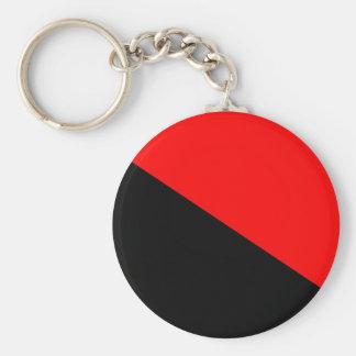 Anarchist, politische Flagge Kolumbiens Standard Runder Schlüsselanhänger