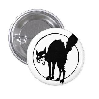 Anarchisten-Katze Runder Button 3,2 Cm