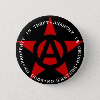 Anarchisten-Stern Runder Button 5,7 Cm