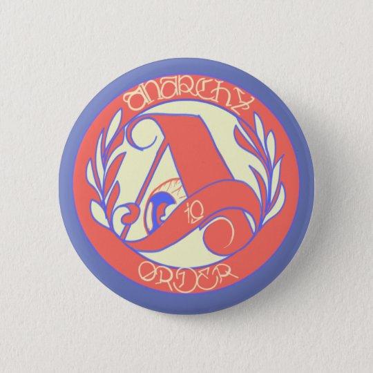 anarcho-amerikanisch runder button 5,7 cm