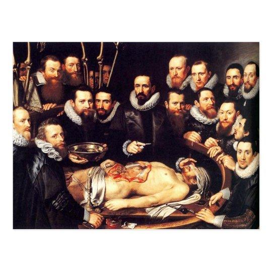 Anatomie-Lektion von Dr. Willem van Der Meer Postkarte | Zazzle.ch