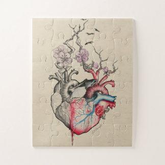 Anatomische Herzen der Liebekunst zwei mit Blumen