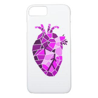 Anatomischer Steinherz-Telefon-Kasten iPhone 7 Hülle