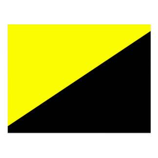 Ancap, politische Flagge Kolumbiens Postkarte
