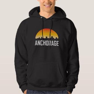 Anchorage-Alaska-Sonnenuntergang-Skyline Hoodie