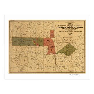 """Anciennes limites de """"nation cherokee"""" des Indiens Carte Postale"""