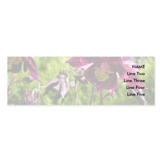 Ancolie. Fleurs de pourpre de prune Carte De Visite Petit Format
