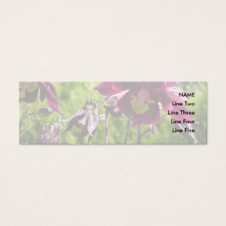 Ancolie. Fleurs de pourpre de prune Mini Carte De Visite