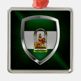 Andalucía metallisches Emblem Silbernes Ornament