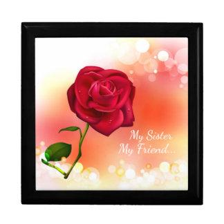 Andenken-Geschenkboxen/Schmuck-Kasten/Rote Rose Schmuckschachtel