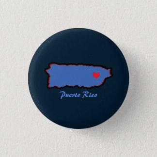 Andenken: Karte von Puerto Rico: Button