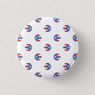 Andenken: Kreise: Puerto- Ricoflagge: Button