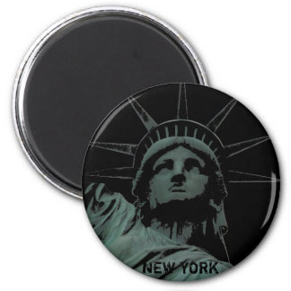 Andenken-Magnet New- YorkKühlschrankmagnet-NY Runder Magnet 5,1 Cm