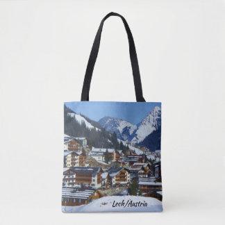 Andenken Österreichs Lech morgens Arlberg Tasche