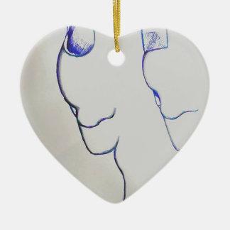 Andere Welten, die in Rhythmus marschieren Keramik Herz-Ornament