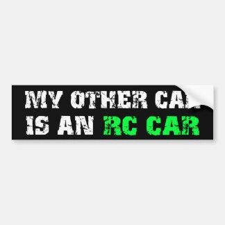 Anderes Auto ist ein RC Auto Autoaufkleber