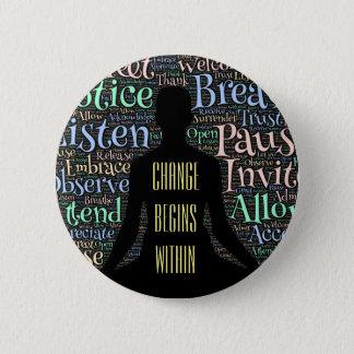 Ändern Sie anfängt Knopf Runder Button 5,1 Cm