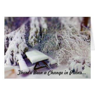 Ändern Sie in den Plänen Schnee bedeckter Karte