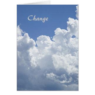 Änderung: Eine motivierend Schablonen-Karte Karte