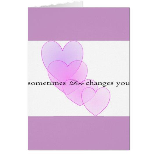 Änderungen der Liebe Grußkarte