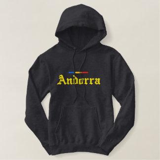 Andorra-Flagge Bestickter Hoodie